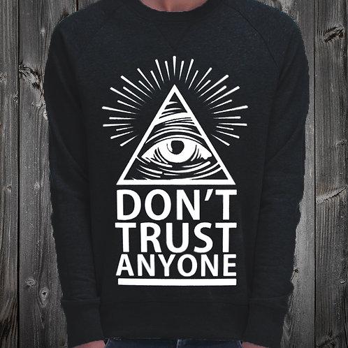 Sweat Shirt noir don't trust any réf: SW14