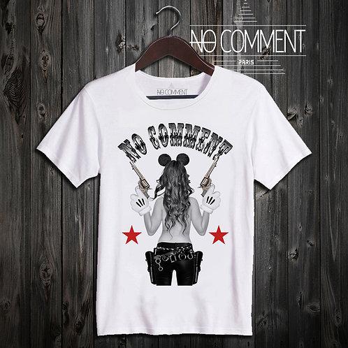 t shirt cow girl guns ref: LTN200