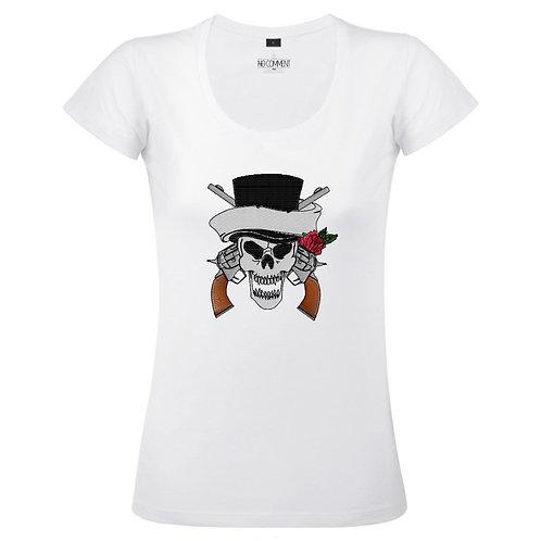 T Shirt imprimé  SKULL COW BOY réf:TFUND09