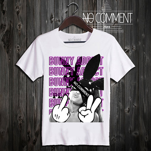 t shirt bunny addict ref: NCP302