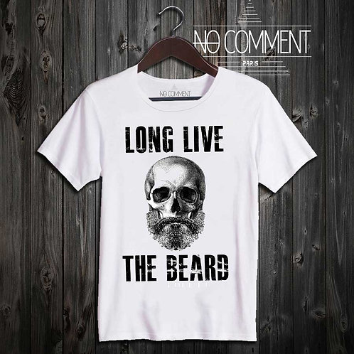 tee shirt imprimé-long life the beard réf: UND06