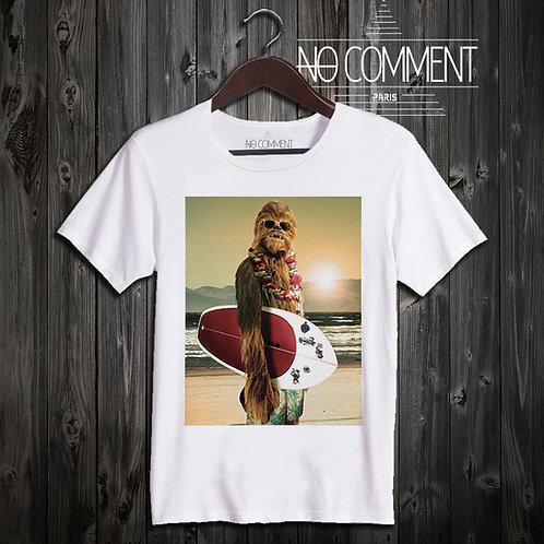 t shirt chewbacca surf ref:STARW12