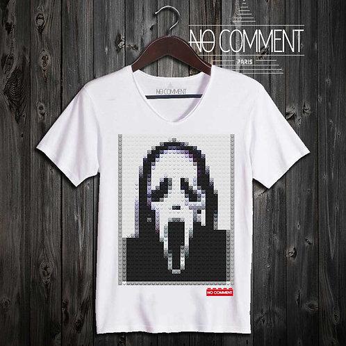 T-shirt Geek, Scream LEGO réf: BRICK15