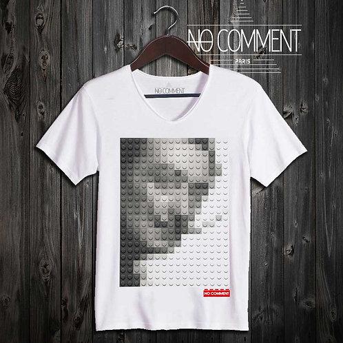 T-shirt Geek, Dali LEGO réf: BRICK03