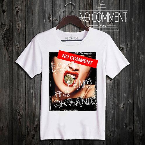 t shirt don't panic its organic ref: NCP02