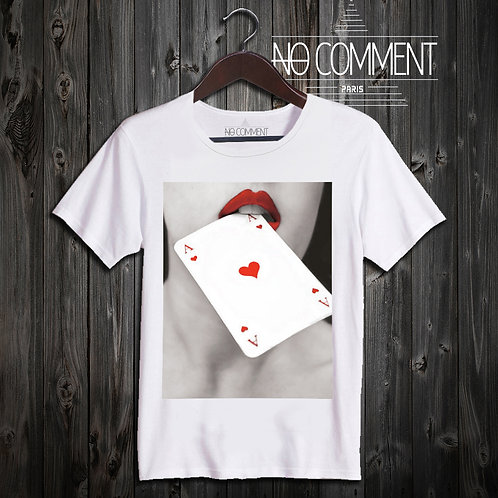 T SHIRT as de coeur NEW41