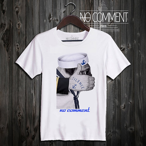 t shirt pug marine ref: LTN197