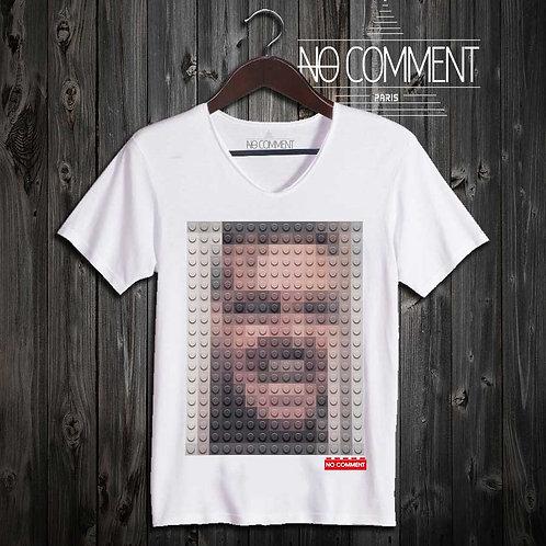 T-shirt Geek, Shining LEGO réf: BRICK18