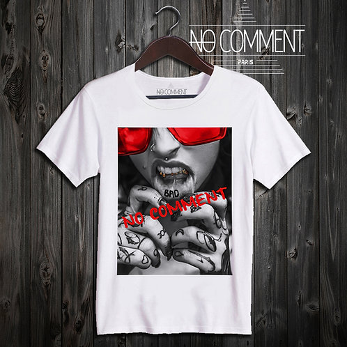 t shirt tatoued lips ref: LTN191