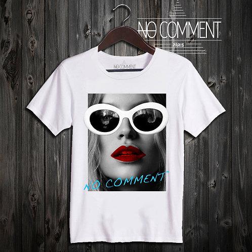 t shirt white sunglasses ref: NCLTN143