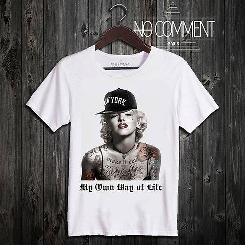 t shirt marilyn cap ref: HIP04