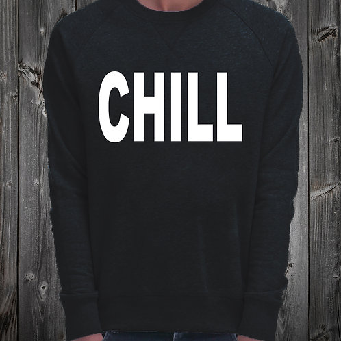 Sweat Shirt noir imprimé CHILL réf: SW16
