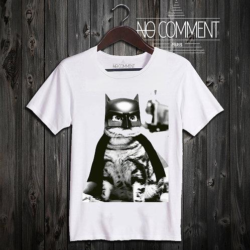 T SHIRT batman cat NEW49