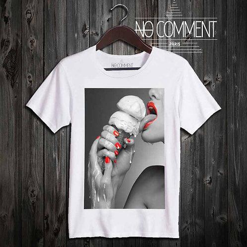t shirt glamour-hot ice cream réf: GLAM05