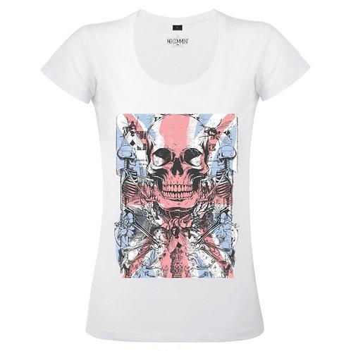 T Shirt imprimé GRUNGE SKULL réf:TFUND03