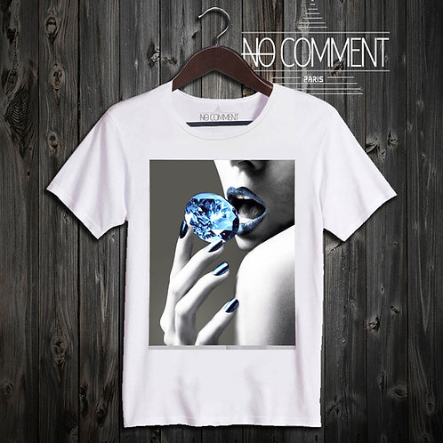 t shirt blue diamond ref: GLAM17