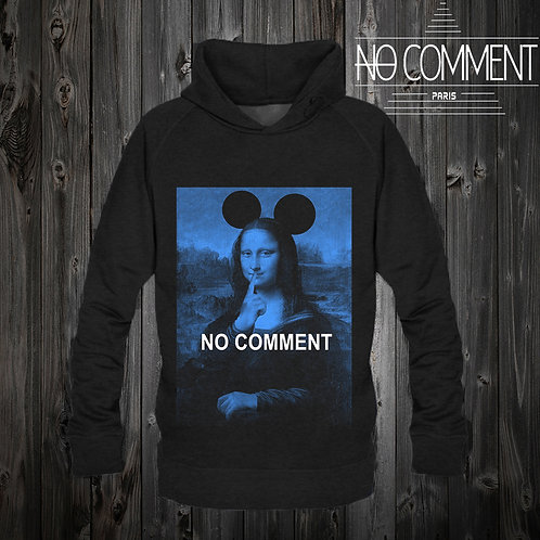 Sweat capuche noir Mona blue: NCPCAP03