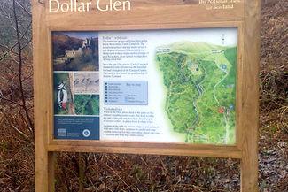 Dollar Glen information sign