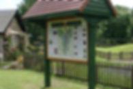 Village information panel, West Linton, Peeblesshire