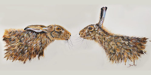 Hares in acrylic 2020
