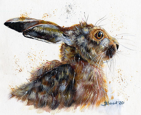 Hare in acrylic 2020