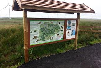 Whitelee Wind Farm information panel