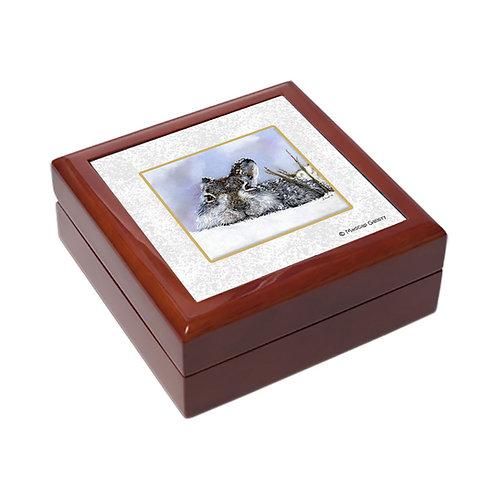 """Mountain Hare"" trinket box"