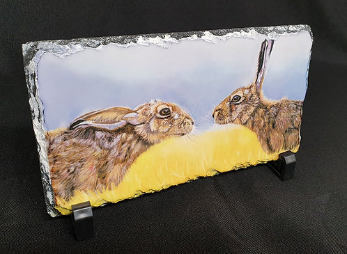 """""""Border Hares"""" printed slate"""