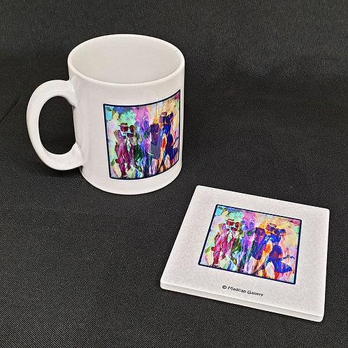 """The Dancers"" Mug and Coaster Set"