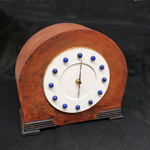 Industrial style mantel clock