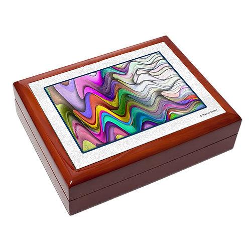 Abstract design large trinket box