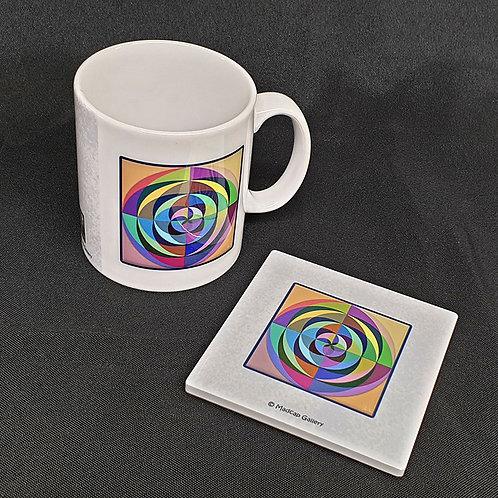 """""""Ripples"""" Mug and Coaster Set"""