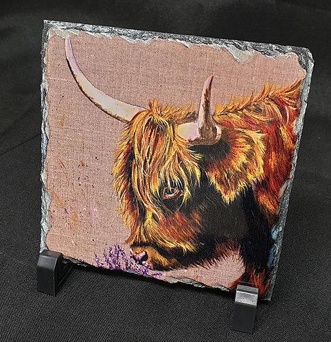 Highland Cow printed slate