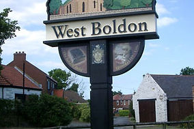 Traditional village sign, West Boldon