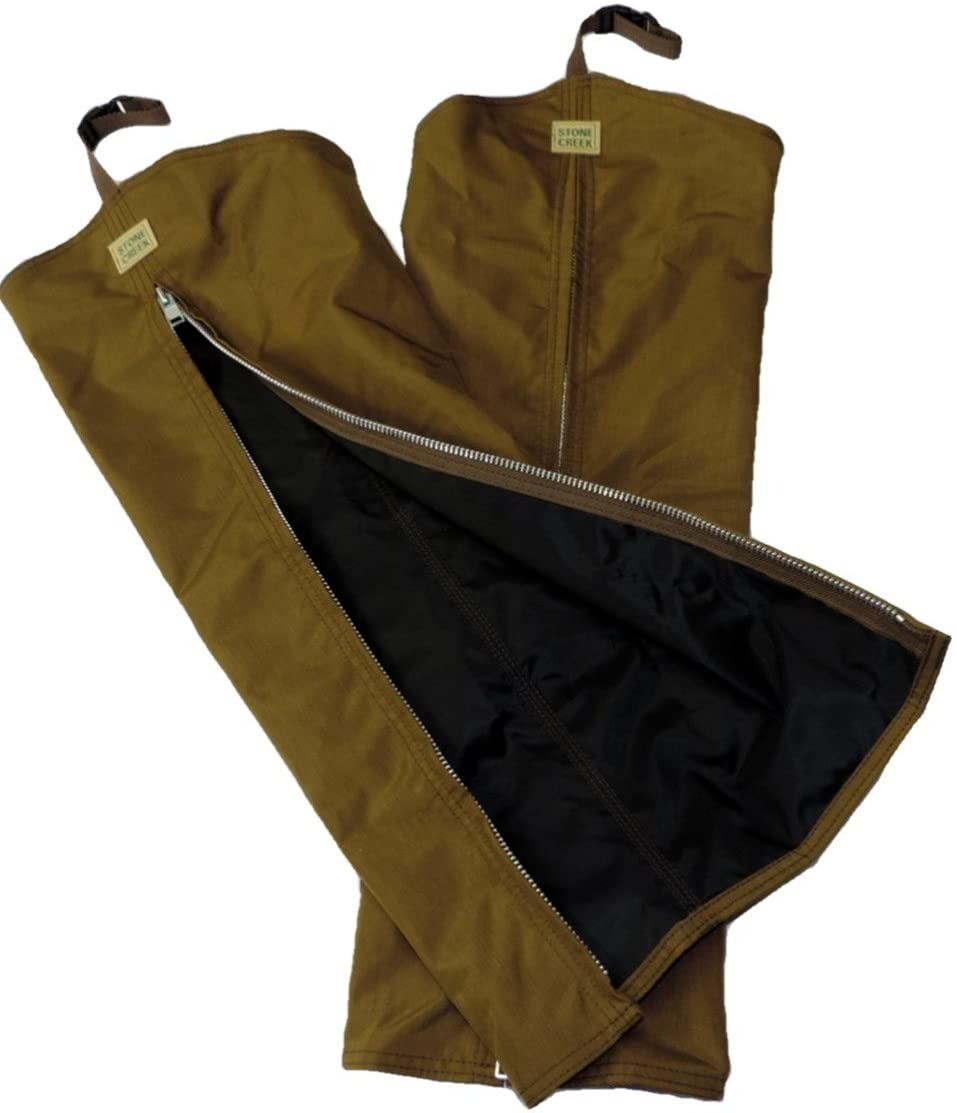 Brown briar proof and waterproof hunting chaps