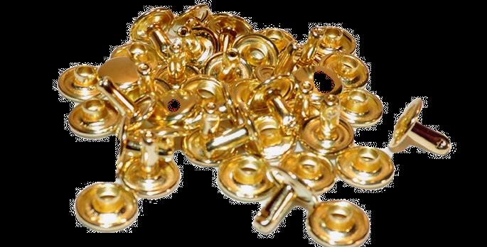 brass 2 piece jiffy rivets