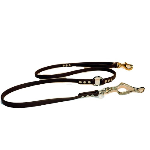 Dog leash made with herm sprenger french snaps