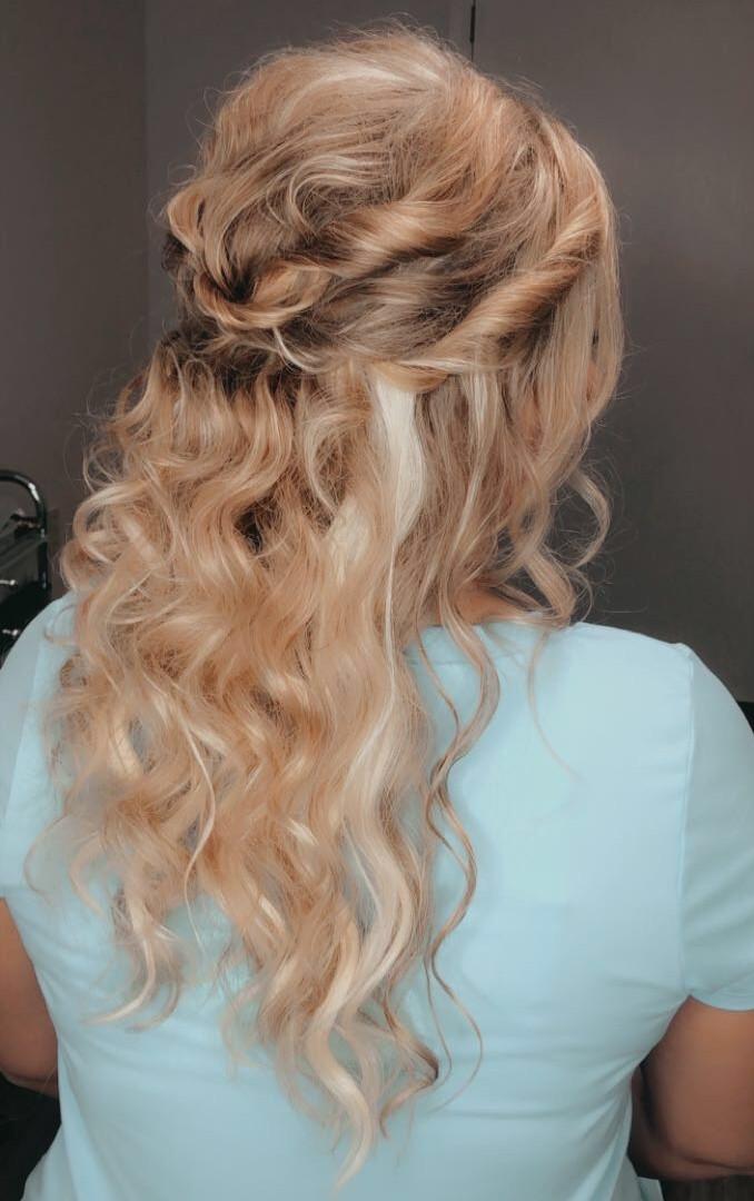 bridal hair style trial