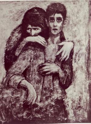 لوحة اليتيم, لؤي كيالي 1963