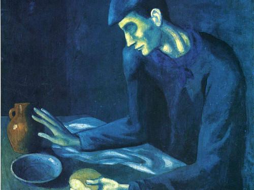 لوحة وجبة الرجل الأعمى