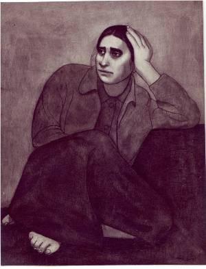 لوحة احزان 1971م