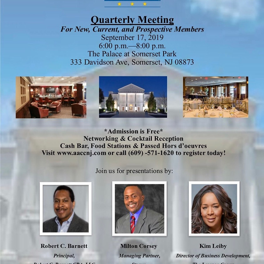 African American Chamber of Commerce of New Jersey  Quarterly Meeting