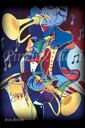 THE MUSICIANS ART POSTER PRINT