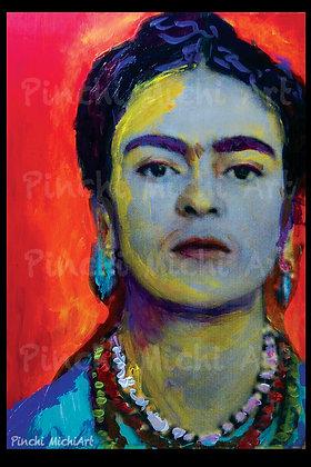 Orange Frida Poster