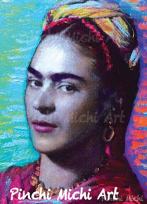 Blue Frida Magnet