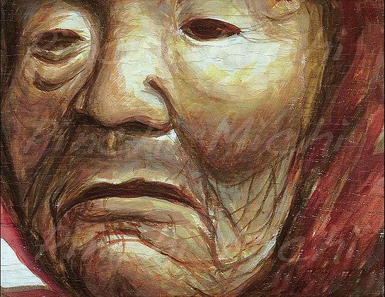 OLD WOMAN ART POSTER PRINT