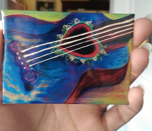 Blue Guitar Magnet