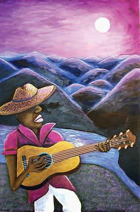 """"""" Cancion a la Luna""""- Acrylic on Canvas"""