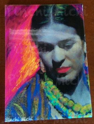 Pink Frida Magnet