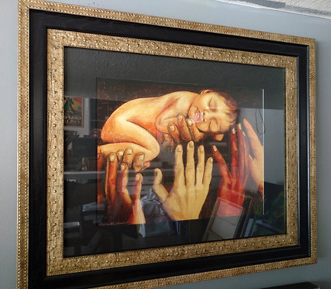 Baby of the World Black & Gold Frame